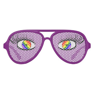 Vidrios divertidos del orgullo con los ojos lentes de sol