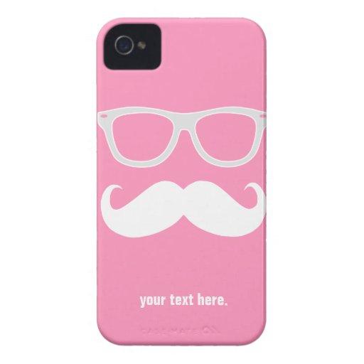 Vidrios geeky divertidos con el bigote iPhone 4 cobertura