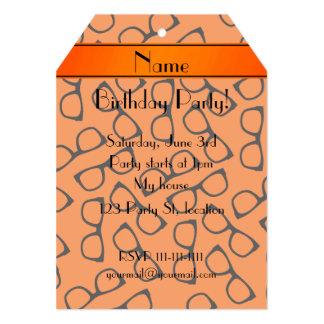 Vidrios negros anaranjados conocidos invitación 12,7 x 17,8 cm