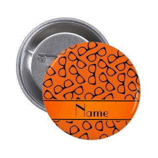 Vidrios negros anaranjados conocidos chapa redonda 5 cm