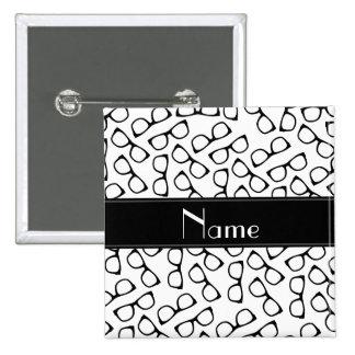 Vidrios negros blancos conocidos personalizados chapa cuadrada 5 cm