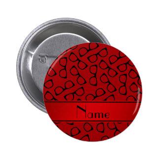 Vidrios negros rojos conocidos personalizados chapa redonda 5 cm