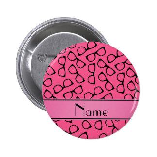 Vidrios negros rosados conocidos personalizados chapa redonda 5 cm