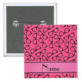 Vidrios negros rosados conocidos personalizados chapa cuadrada 5 cm