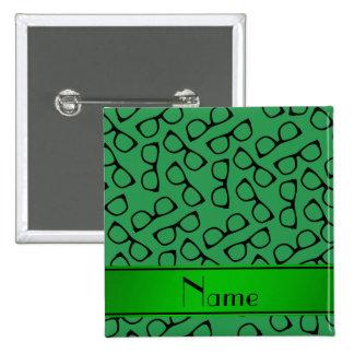 Vidrios negros verdes conocidos personalizados chapa cuadrada 5 cm