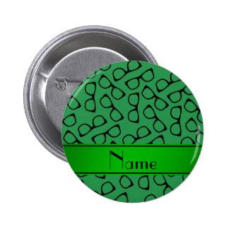 Vidrios negros verdes conocidos personalizados chapa redonda 5 cm