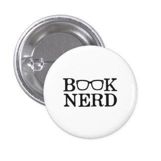 Vidrios Nerdy del empollón del libro Pin Redondo De 1 Pulgada