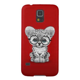 Vidrios que llevan de Cub de la onza linda en rojo Fundas De Galaxy S5