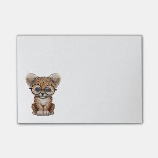 Vidrios que llevan de Cub del leopardo lindo del b Post-it Nota