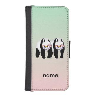 Vidrios que llevan del arco iris lesbiano lindo de billeteras para teléfono
