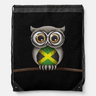 Vidrios que llevan del búho jamaicano lindo de la mochilas