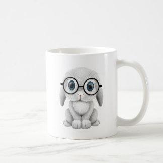 Vidrios que llevan del conejito blanco lindo del taza