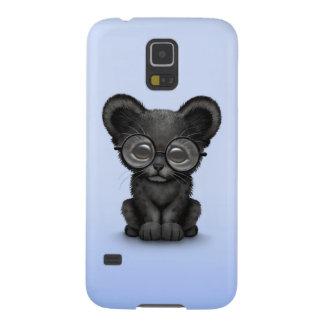 Vidrios que llevan lindos de Cub de la pantera neg Carcasas De Galaxy S5