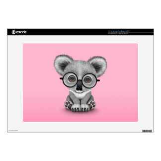 Vidrios que llevan lindos de Cub de oso de koala d Calcomanías Para Portátiles