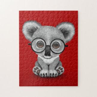 Vidrios que llevan lindos de Cub de oso de koala Puzzle