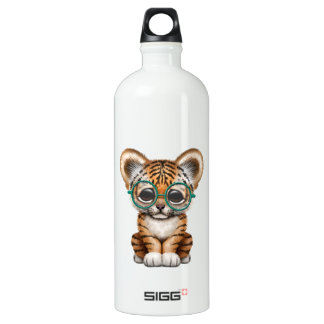 Vidrios que llevan lindos de Cub de tigre de bebé Botella De Agua