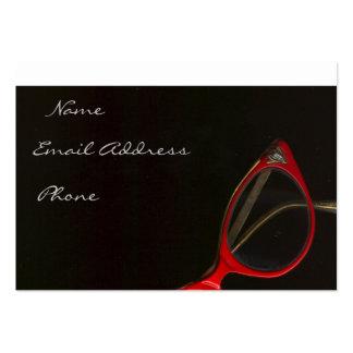 Vidrios rojos de Leslie Harlow - modificado para Tarjetas De Visita Grandes