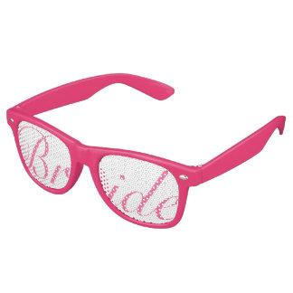 Vidrios rosados del fiesta del Swag de la NOVIA Gafas De Sol