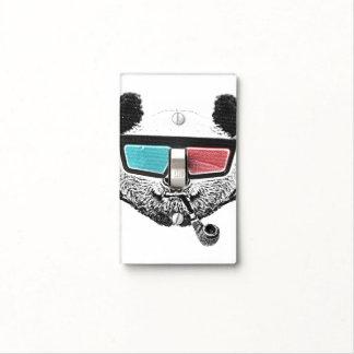 Vidrios tridimensionales de la panda del vintage cubierta para interruptor
