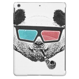 Vidrios tridimensionales de la panda del vintage funda iPad air