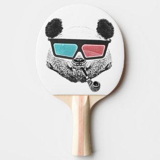 Vidrios tridimensionales de la panda del vintage pala de ping pong