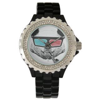Vidrios tridimensionales de la panda del vintage reloj de mano