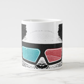 Vidrios tridimensionales de la panda del vintage taza grande