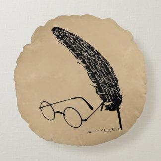 Vidrios y canilla del ™ de HARRY POTTER Cojín Redondo