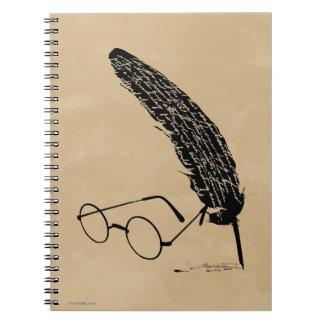 Vidrios y canilla del ™ de HARRY POTTER Libreta Espiral