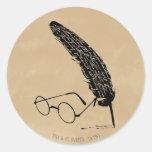 Vidrios y canilla del ™ de HARRY POTTER Pegatina Redonda