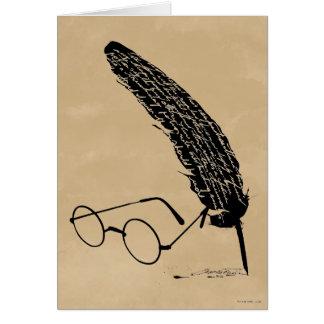 Vidrios y canilla del ™ de HARRY POTTER Tarjeta De Felicitación