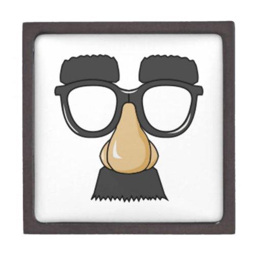 Vidrios y nariz del payaso cajas de joyas de calidad