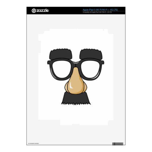 Vidrios y nariz del payaso iPad 3 skins