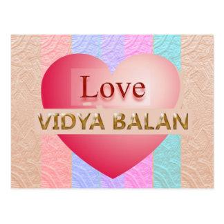 VIDYA BALAN Gifts :  Golden Script Post Cards