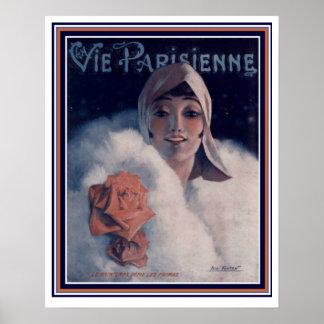 "Vie Parisienne ""Glamour Girl"" Deco Poster 16 x 20"