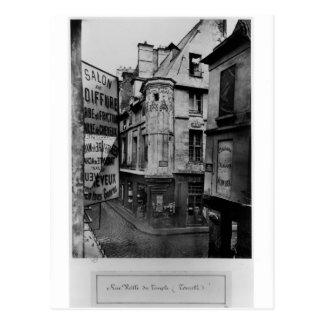 Vieille-du-Templo de la ruda, París, 1858-78 Postal