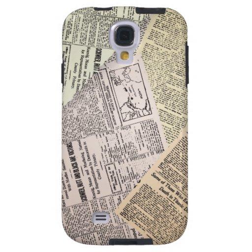 Vieja caja de la galaxia S4 de Samsung del reporte