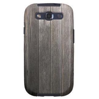 Vieja caja de madera de la galaxia S3 de Samsung d Galaxy S3 Funda