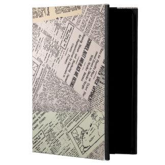 Vieja caja del aire del iPad del reportero