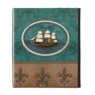 Vieja caja del folio del iPad del velero