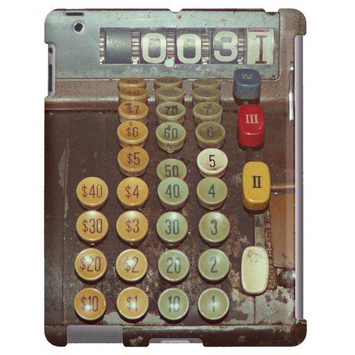 Vieja caja registradora antigua funda para iPad