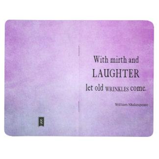 Vieja cita de Shakespeare de las arrugas del Cuaderno Grapado