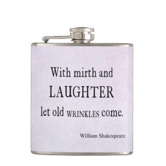 Vieja cita de Shakespeare de las arrugas del Petaca