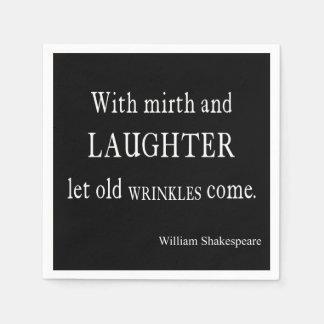 Vieja cita de Shakespeare de las arrugas del Servilleta Desechable