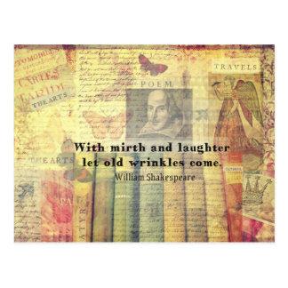 Vieja cita de Shakespeare de las arrugas del Tarjetas Postales