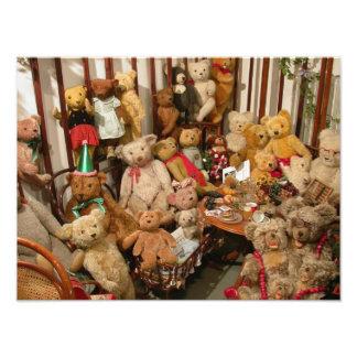 Vieja colección de los osos de peluche cojinete