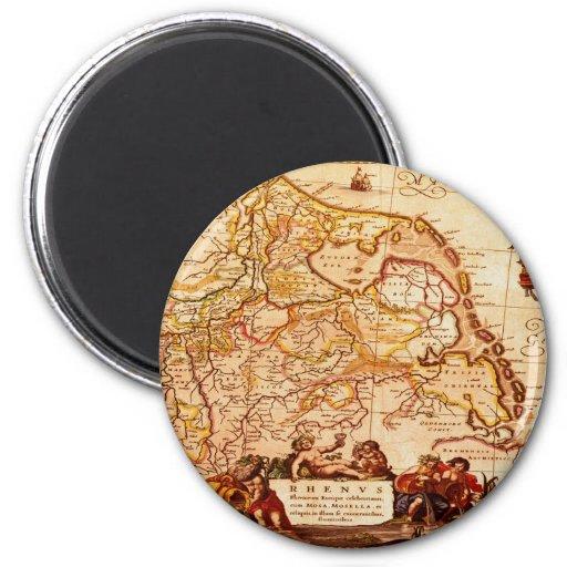 Vieja colección de mapa alemana de Willem Janszoon Iman