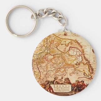 Vieja colección de mapa alemana de Willem Janszoon Llavero Redondo Tipo Pin