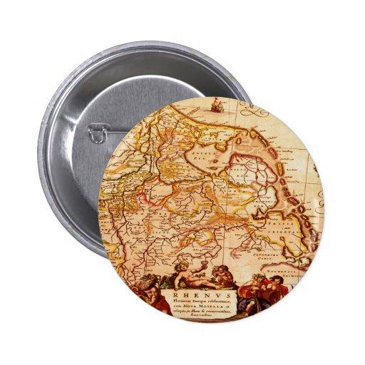 Vieja colección de mapa alemana de Willem Janszoon Pin