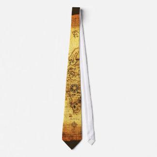 VIEJA colección del lazo del MAPA de WORLDE Corbata Personalizada